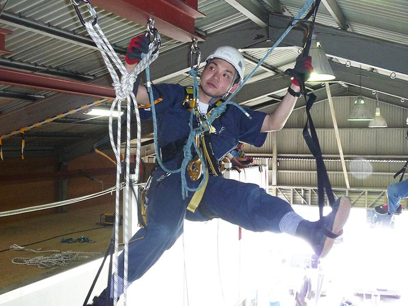 ロープアクセストレーニング